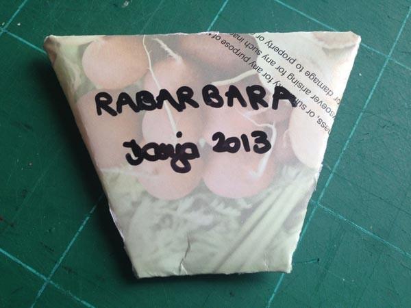 8) Izdelanega paketka s semeni ne pozabimo opremiti s podatki o semenih.