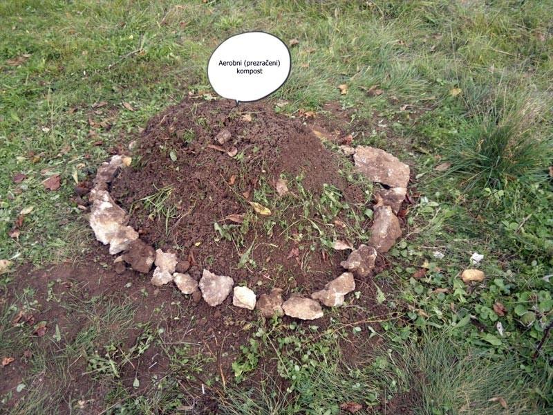 Kompostni kup še obložimo z zemljo